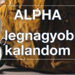 Alpha indul szeptember 22-én